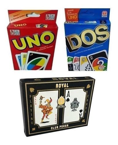 Combo X 3 Juegos De Cartas - Diverti Toys