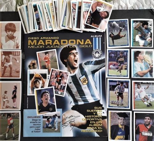 Album Maradona Mejor Jugador Del Siglo Completo Fig.p/ Colar