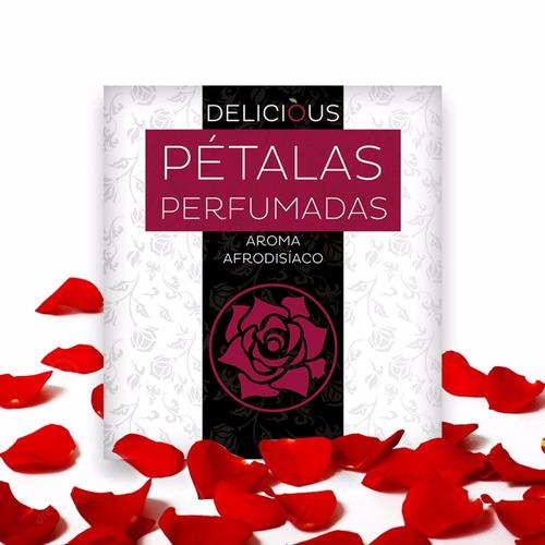 Pétalas Perfumadas Afrodisíacos Pct. 100 Unidades Delicious Original