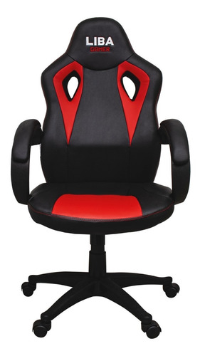 Cadeira Liba Gamer Ergonômica Escritório Estofado Couro Sint