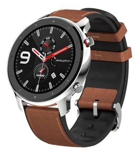 Smartwatch Amazfit  Gtr Stainless Steel Malla De Cuero A1902