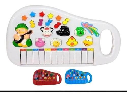 Piano Infantil Musical Educativo Som De Animais Fazenda