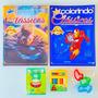 2 Revistas Colorir Menino Super Heróis Lápis De Cor massinha