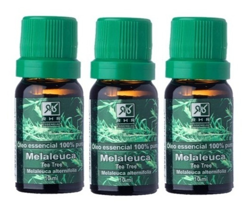 Kit 03 Óleos Essenciais De Melaleuca 100% Puro - Rhr