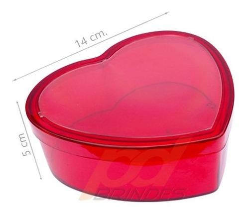 Baleiro Coração Porta Foto Vermelho - 30 Unidades