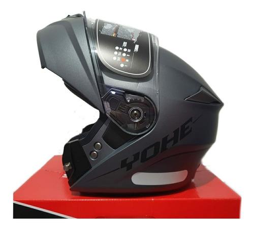 Capacete Titanium Moto Articulado Robocop Yohe New Pratik