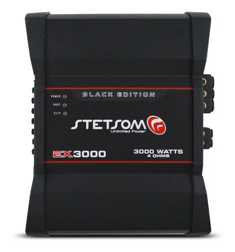 Amplificador Stetsom Ex 3000 Black Mono 3000w Rms Crossover