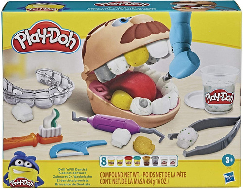 Massinha Play Doh Brincando De Dentista Original Hasbro