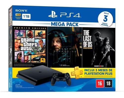 Playstation 4 Slim 1 Tb Gta V Death Stranding Last Of Us Ps4 Original