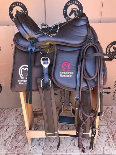 Sela De Gel Completa Mula Ou Cavalo 15 17 Polegadas