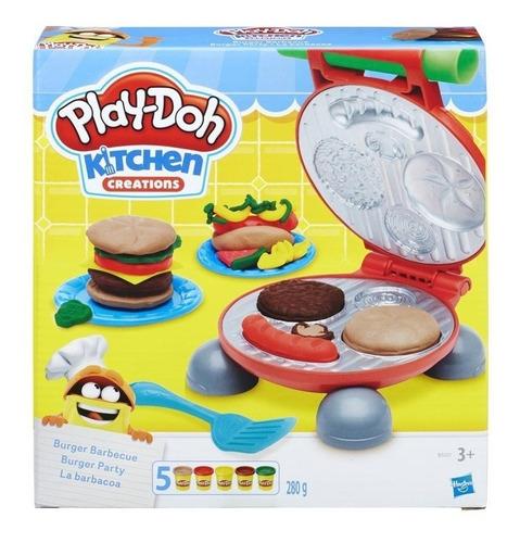 Play Doh Massinha Brincando Festa Do Hamburguer Hasbro B5521