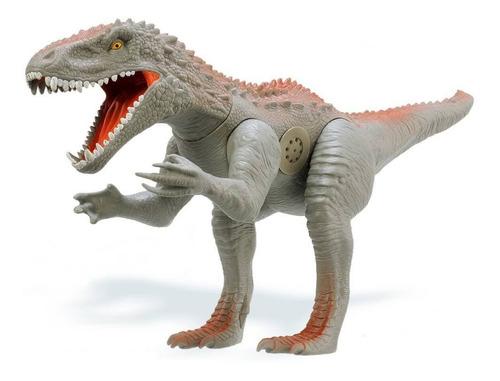 Dinossauro Tiranossauro Rex Grande 60 Cm C/ Som Menino