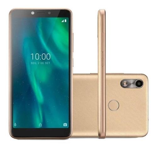 Smartphone Multilaser F 32gb 1gb Ram Sensor Digital Dourado