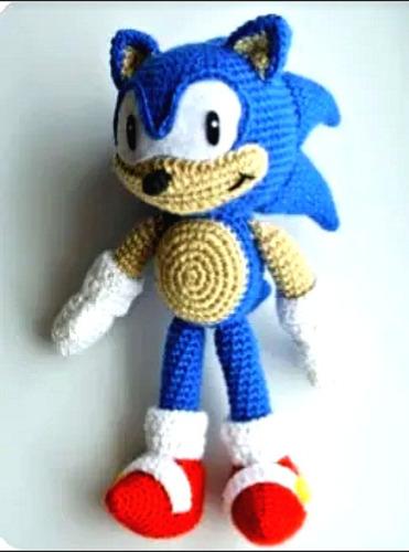 Sonic Patrón Amigurumi