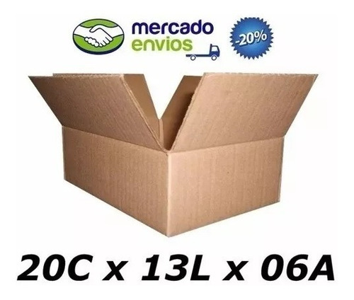 100 Caixas 20 C X 13 L X 06 A Para Sedex Pac Ecomerce Maleta