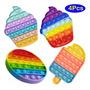 4 Push Bubble Fidget Toy, Brinquedos De Mesa De Escritório D