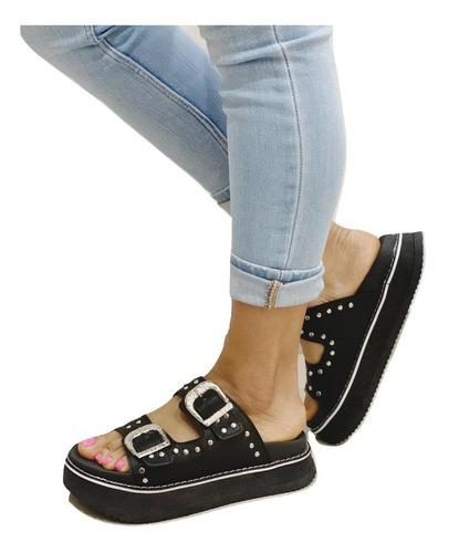 Zapato Sandalia Alta Mujer Plataforma Birk - Boms