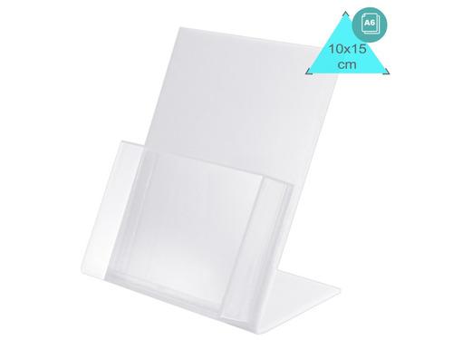 Display Mesa Porta Folder Panfletos A6 Ps (similar Acrilico)