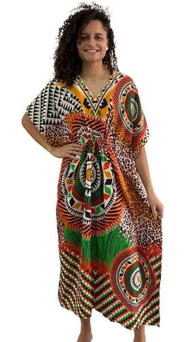 Vestido Indiano Kaftan Indiano Longo Importado Veste Gg 358
