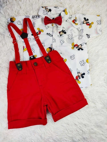 Roupa Infantil Mickey Mouse De Menino
