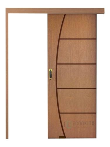 Kit Porta De Correr Madeira 2r - Trilho 2,00m S/pux Oferta