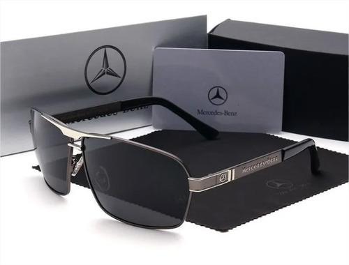 Óculos De Sol Mercedes-benz Polarizado Proteção Uv400 + Kit