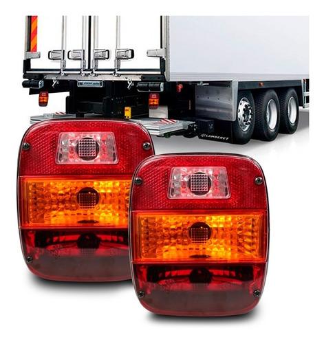 Par Lanterna Caminhão Vw Ford Cargo Esportiva Marmita Lisa