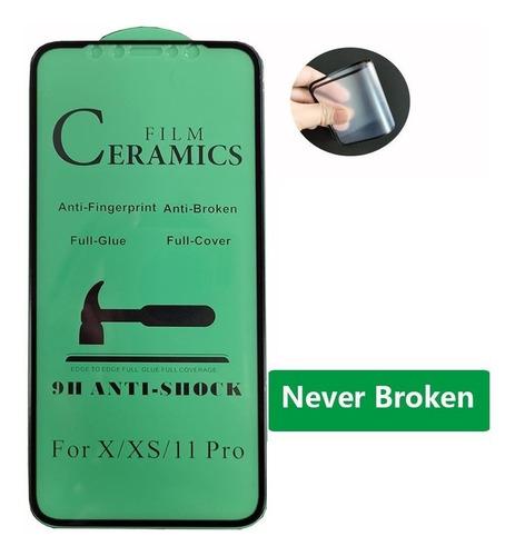 Vidrio Ceramica Flexible No Quiebra Samsung Galaxy A10 Negro