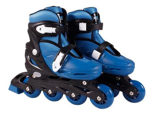 Patins Roller In-line Radical Ajustável Azul Bel Sports