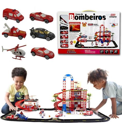 Hot Pista Auto Posto Infantil Carrinhos Plataforma Helicopte