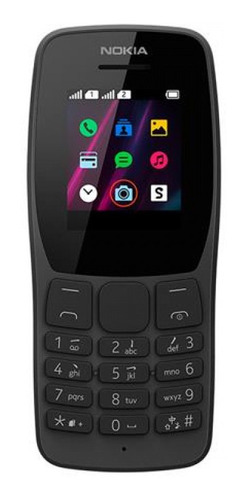 Celular Nokia 110 Preto Rádio Fm E Leitor Mp3 - Nk006