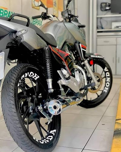 Kit Com 8 Adesivos Grande Honda Roda De Liga 28 X 3, 5 Cm