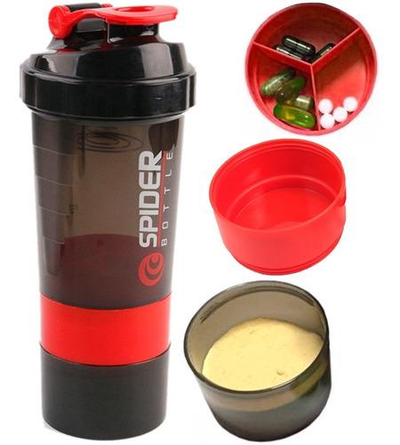 Botella De Agua Shaker 3 En 1 Con Agitador De Proteina D1185