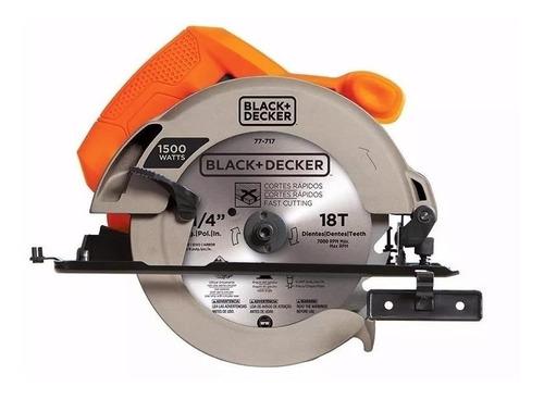Sierra Circular Eléctrica Black+decker Cs1024 184mm 1500w 50hz/60hz Naranja 120v
