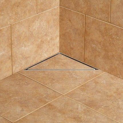 Desague Ducha Triangular Fluenza Acero Inox Ceramic