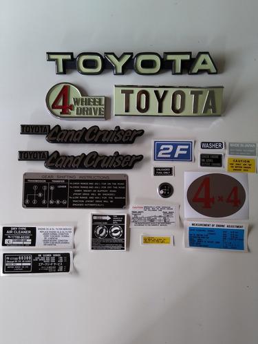 Toyota Land Cruiser Fj40/43 Emblemas Y Calcomanias Tipo Orig