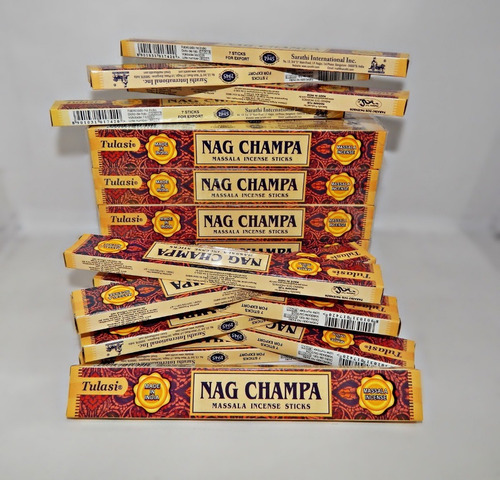 Incenso Tulasi Massala Nag Champa 10 Caixinhas = 70 Varetas