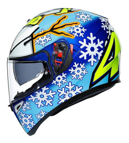 Capacete Agv Valentino Rossi K3 Sv Winter Test 2016