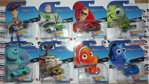 Set Completo Disney Pixar Com 8 Carros Hot Wheels Character