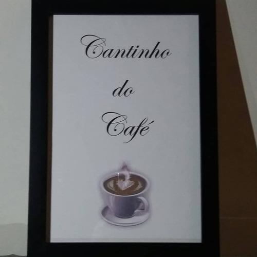 Quadro  Cantinho Do Café  (moldura E Vidro)