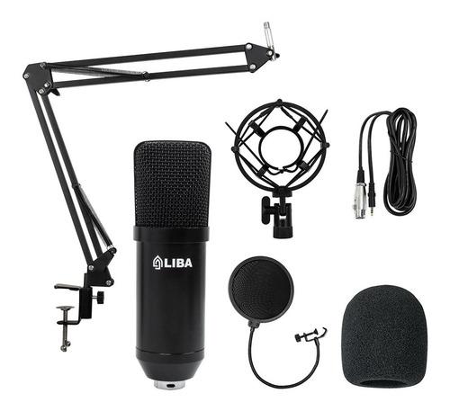 Kit Estúdio Microfone +aranha +braço +pop Filter Liba Lb2042