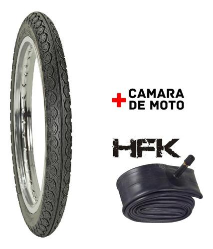 Kit Cubierta 80/100-14 F888 Hf+camara 80/100-14 Hfk Reforzad