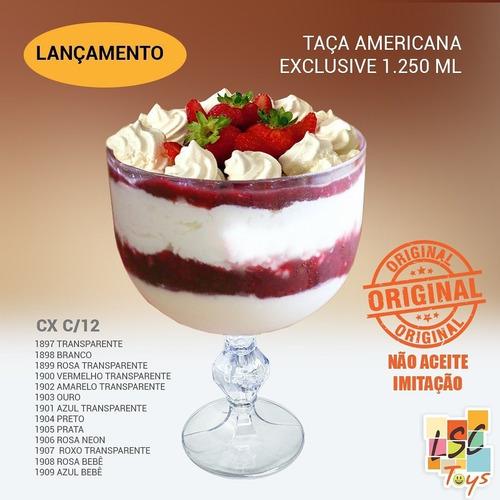 20 Taças Gourmet Americana 1.250 Ml Para Bolo E Doce Na Taça