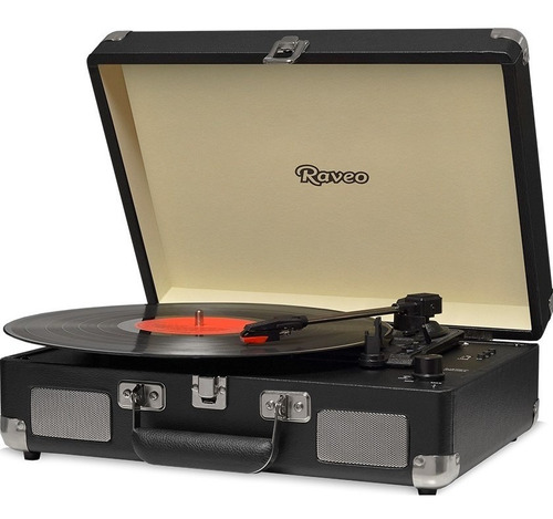Toca Discos Sonetto Gravação Bluetooth Chrome Black Preto