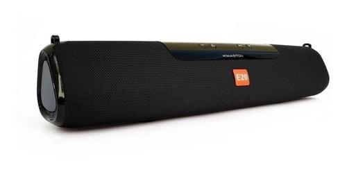Caixa De Som H'maston E-20 Portátil Com Bluetooth Preta