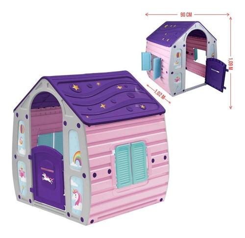 Casinha De Brinquedo Infantil Unicórnio 560000 Bel Brink