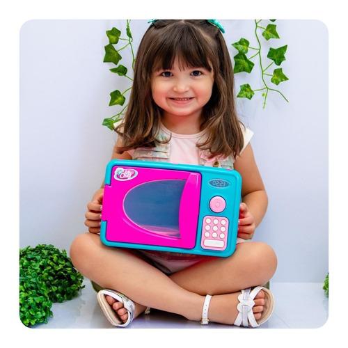 Forno Microondas Infantil Brinquedo C/ Luz E Som - Envio Já