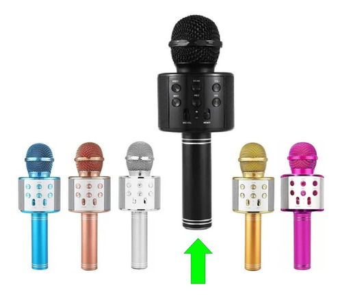 Microfone Bluetooth Sem Fio Youtuber Karaoke Reporter