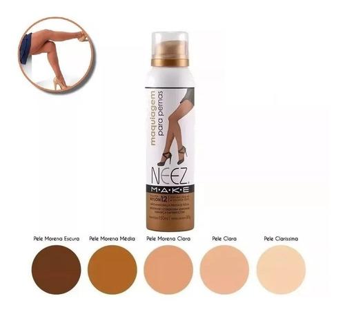Maquiagem Para Pernas Spray Make Meia Calça Nylon Neez 150 Ml - Escolha A Cor