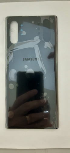 Tampa Traseira Galaxy Note 10 N975 Plus Preta Vidro 100% Nov